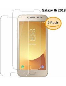 Merkloos 2 Stuks Samsung Galaxy J6 (2018) Tempered glass /Beschermglas Screenprotector