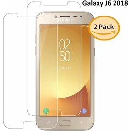 Merkloos 2 Stuks Samsung Galaxy J6 (2018) Tempered glass /Beschermglas Screen Protector