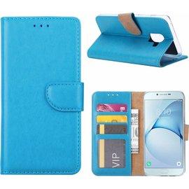 Merkloos Samsung Galaxy A6 (2018) case Blauw Portemonnee hoesje met opbergvakjes