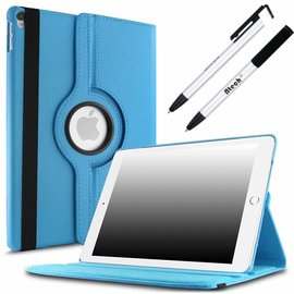 Merkloos Apple iPad Pro 10.5 (2017) hoesje   360 Rotating  Multi stand Hoes Case +  4 in 1 Styuls   Licht Blauw