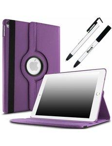 Merkloos Apple iPad Pro 10.5 (2017) hoesje 360 Rotating hoesje Case + 4 in 1 Styuls Paars