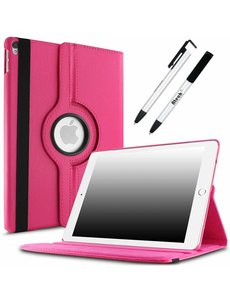 Merkloos Apple iPad Pro 10.5 (2017) hoesje 360 Rotating hoesje Case + 4 in 1 Styuls Pink