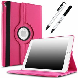 Ntech Apple iPad Pro 10.5 (2017) hoesje   360 Rotating  Multi stand Hoes Case +  4 in 1 Styuls   Pink