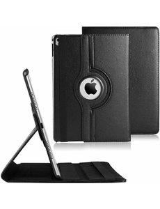Merkloos Apple iPad Pro 9,7 inch 360 Draaibaar case cover - Zwart
