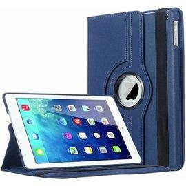 Merkloos Apple iPad Air 2 (iP6) Case met 360ᄚ draaistand Hoes Cover met Stand Donker Blauw