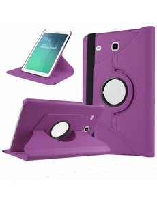 Merkloos Paars - Samsung Galaxy Tab E 9,6 inch Tablet Case hoesje met 360? draaistand cover hoes