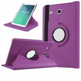 Merkloos Paars - Galaxy Tab E 9,6 inch Tablet Case hoesje met 360ᄚ draaistand cover hoes