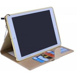 Merkloos Premium Luxe Hoes voor iPad Air 2 Folio Cover hoesje Champagne Goud