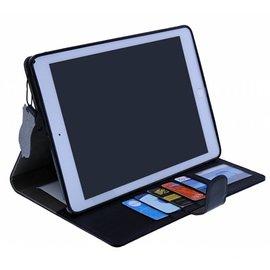 Merkloos Premium Luxe Hoes voor iPad Air 2 Folio Cover hoesje Zwart
