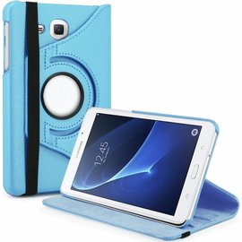 Merkloos Samsung Galaxy Tab A 7.0 inch T280 / T285 Case met 360ᄚ draaistand cover hoesje - Licht Blauw