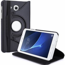 Merkloos Samsung Galaxy Tab A 7.0 inch T280 / T285 Case met 360? draaistand cover hoesje - Zwart