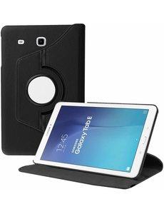 Merkloos Samsung Galaxy Tab E 9.6 inch SM - T560 / T561 Tablet Case met 360? draaistand cover hoesje - Zwart