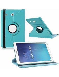 "Merkloos Tablet hoesje 360? draaibaar voor Samsung Galaxy Tab E 9,6 inch Tab E T560 / T561 - Licht Blauw"""