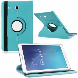 Merkloos Tablet Hoes Case Cover 360? draaibaar voor Samsung Galaxy Tab E 9,6 inch Tab E T560 / T561 - Licht Blauw""