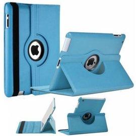 Merkloos iPad 2 / 3 / 4 Case 360 graden draaibare beschermhoes cover kleur Licht Blauw