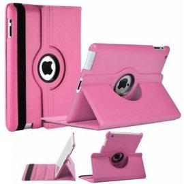 Merkloos iPad 2 / 3 / 4 Case 360 graden draaibare beschermhoes cover kleur Licht Roze