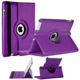 Merkloos iPad 2 / 3 / 4 Case 360 graden draaibare beschermhoes cover kleur Paars