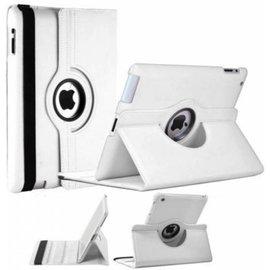 Merkloos iPad 2 / 3 / 4 Case 360 graden draaibare beschermhoes cover kleur Wit
