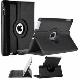Merkloos iPad 2 / 3 / 4 Case 360 graden draaibare beschermhoes cover kleur zwart