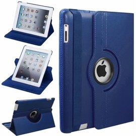 Merkloos iPad 2, 3 en 4 Case met 360 Graden draaistand Hoes Cover met Stand Donker Blauw