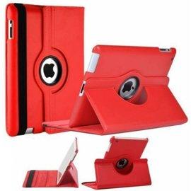 Merkloos iPad 2, 3, 4 Beschermhoes- 360 graden draaibare cover - kleur Rood