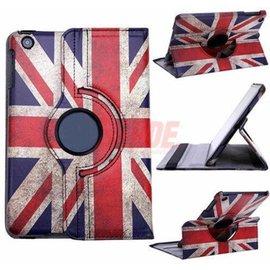 Ntech Ntech iPad 9.7 (2017) Hoes - UK Vintage - 360ᄚ Draaibaar met Multi stand