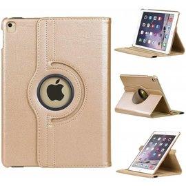 Merkloos iPad Air 2 Rotatie hoes cover met stand  Champagne Goud