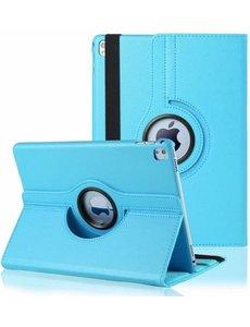 Merkloos iPad Pro 9.7 inch Case met 360? draaistand cover hoesje - Licht Blauw