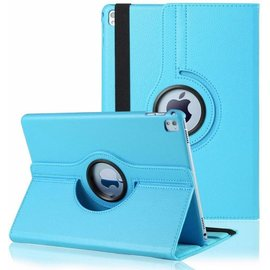 Merkloos iPad Pro 9.7 inch Case met 360ᄚ draaistand cover hoes - Licht Blauw