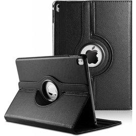 Merkloos iPad Pro 9.7 inch Case met 360ᄚ draaistand cover hoes - Zwart