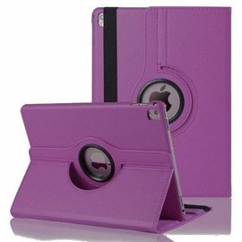 Merkloos iPad Pro 9.7 inch Case met 360? draaistand cover hoesje - Paars
