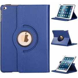 Merkloos nieuwe iPad 9.7 (2017)  hoesje   Case   Cover   360ᄚ draaibaar Multi stand   Donker Blauw