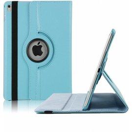 Ntech Ntech nieuwe iPad 9.7 (2017)  Hoes   Case   Cover   360ᄚ draaibaar Multi stand   Licht Blauw