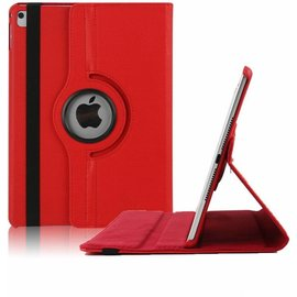 Ntech Ntech nieuwe iPad 9.7 (2017)  Hoes   Case   Cover   360ᄚ draaibaar Multi stand   Rood