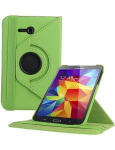 Merkloos Samsung Galaxy Tab 3 - Lite 7.0 inch (T110 / T111 / T113) Tablet Case hoesje 360 Draaibaar - Groen