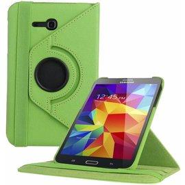 Merkloos Samsung Galaxy Tab 3 - Lite 7.0 inch (T110 / T111 / T113) Tablet Case Hoes cover 360 graden draaibaar kleur Groen