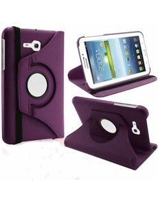 Merkloos Samsung Galaxy Tab 3 - Lite 7.0 inch (T110 / T111 / T113) Tablet Case hoesje 360 Draaibaar - Paars