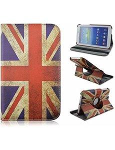 Merkloos Samsung Galaxy Tab 3 - Lite 7.0 inch (T110 / T111 / T113) Tablet Case hoesje 360 Draaibaar - UK Flag