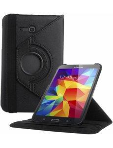 Merkloos Samsung Galaxy Tab 3 - Lite 7.0 inch (T110 / T111 / T113) Tablet Case hoesje 360 Draaibaar - Zwart