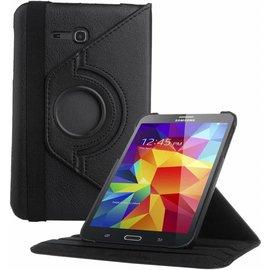 Merkloos Samsung Galaxy Tab 3 - Lite 7.0 inch (T110 / T111 / T113) Tablet Case Hoes cover 360 graden draaibaar kleur Zwart