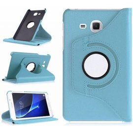 Merkloos Samsung Galaxy Tab A 7.0 inch (2016) T280 / T285 hoesje Cover 360 graden draaibare Case Licht Blauw