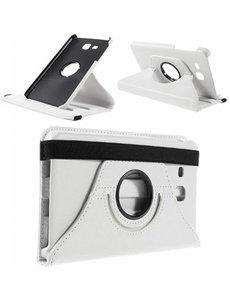 Merkloos Samsung Galaxy Tab A 7.0 inch (2016) T280 / T285 hoesje 360 graden draaibare Case Wit