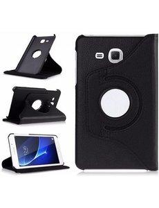 Merkloos Samsung Galaxy Tab A 7.0 inch (2016) T280 / T285 hoesje 360 graden draaibare Case Zwart