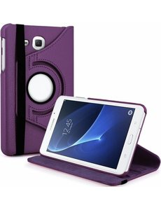 Merkloos Samsung Galaxy Tab A 7.0 inch T280 / T285 Case met 360? draaistand cover hoesje - Paars