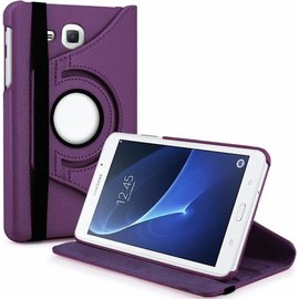 Merkloos Samsung Galaxy Tab A 7.0 inch T280 / T285 Case met 360ᄚ draaistand cover hoesje - Paars