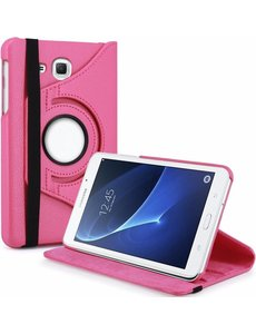 Merkloos Samsung Galaxy Tab A 7.0 inch T280 / T285 Case met 360? draaistand cover hoesje - Pink / Roze