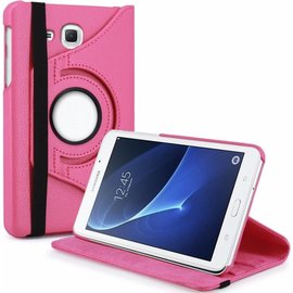 Merkloos Samsung Galaxy Tab A 7.0 inch T280 / T285 Case met 360ᄚ draaistand cover hoesje - Pink / Roze