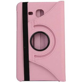 Merkloos Samsung Galaxy Tab A 7.0 inch T280 / T285 Case met 360° draaistand cover hoesje - Licht Roze