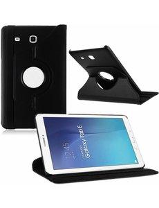 Merkloos Samsung Galaxy Tab E 9.6 Hoesje Case Zwart, 360 Draaibaar