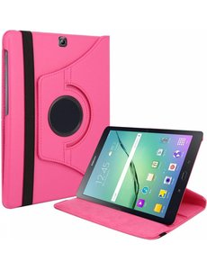 Merkloos Samsung Galaxy Tab S2 9,7 inch (SM- T810) Tablet Case met 360? draaistand cover hoesje - Pink - Roze